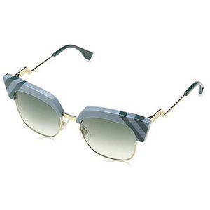 Fendi FF0241/S MUV AZURE Blue Square Sunglasses